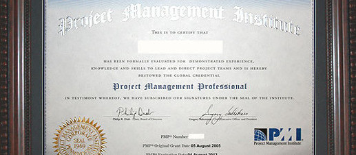 Portion of a sample PMP Certificate